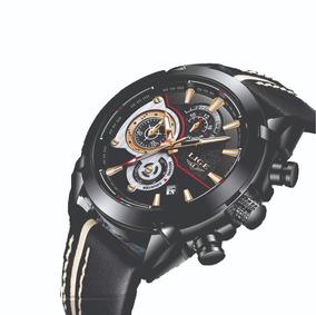 Reloj Nuevo Luxury Gold Lige Casual Military Quartz qSUzpGMV