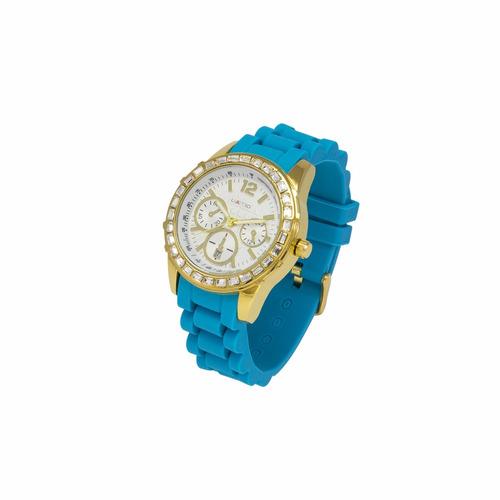 reloj limited 268-426-4 azul para dama + obsequio xinjia