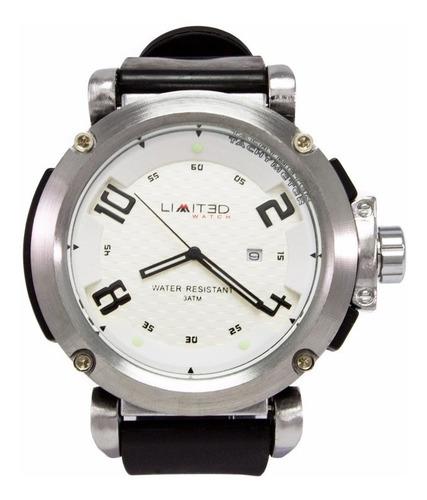 reloj limited 88-109-2 negro/blanco para cballero +obsequio