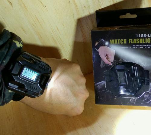 reloj linterna táctico 4 funciones