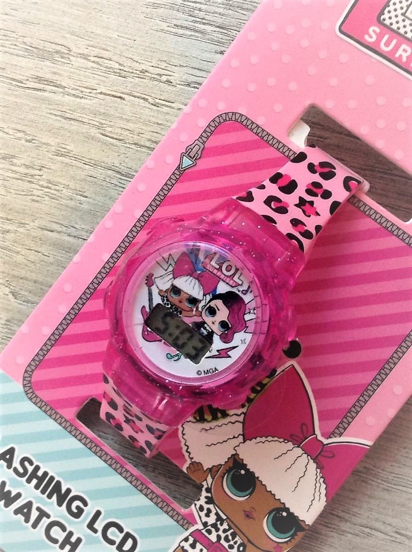Watch Mga Lcd Rosa Reloj Surprise Animal Lol Flashing Print hrtCsQdx