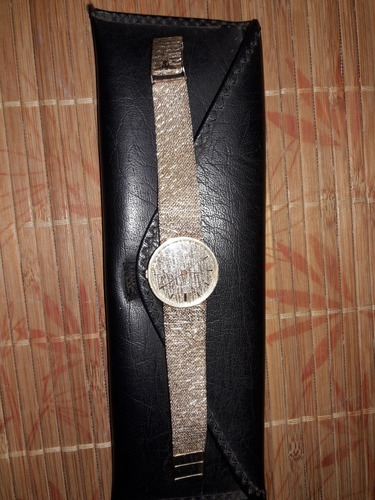 reloj longine  de oro 14k