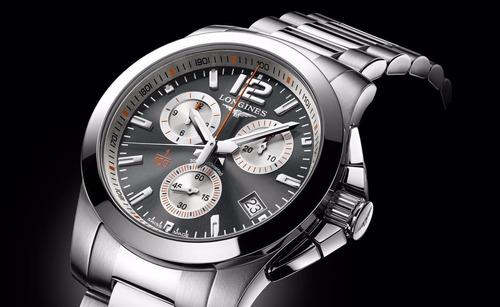 reloj longines conquest 1/100th roland garros l37004796