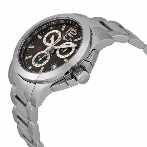 reloj longines conquest chrono 1/100th l37004566 | original