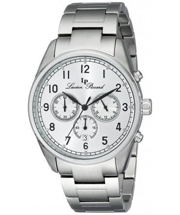 reloj lujo lucien piccard lp-10588-22s plata c/ etiquetas