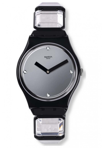 reloj luxy-square s negro swatch