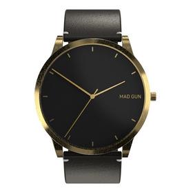 Reloj Mad Gun Ascot - Reloj De Hombre - Malla Cuero Negra
