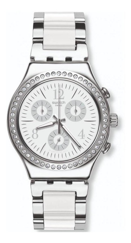 reloj made in white plateado swatch