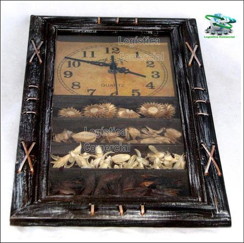 reloj madera 45x24 hogar decoracion negocio