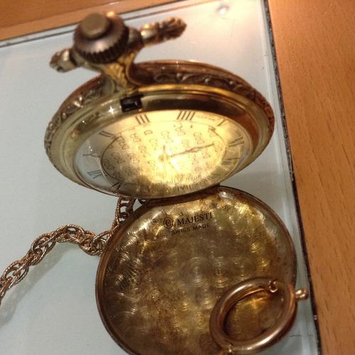 reloj majesti bolsillo funcionando. swiss. con leontina