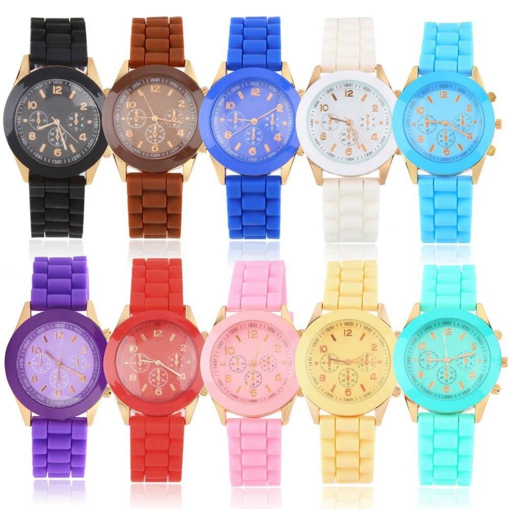 9858f3c30105 reloj malla silicona   detalles en dorado varios colores x10. Cargando zoom.