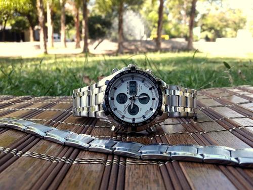 reloj mango + pulsera acero aleman high quality