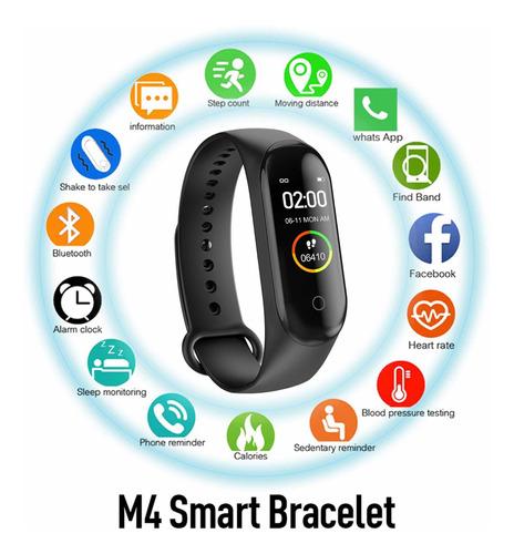 reloj manilla pulsera inteligente m4  podómetro, calorias