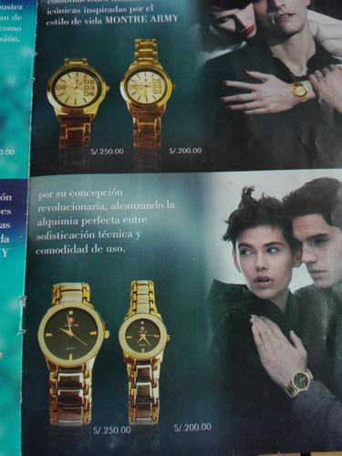 reloj marca montre army