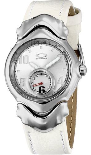 reloj marca oakley, modelo d-jury ii polished / white dial/w