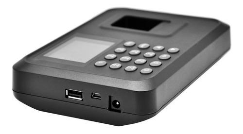 reloj marcador de huella digital con bateria en español