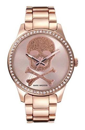 reloj mark maddox mujer de lujo oro rosa en acero