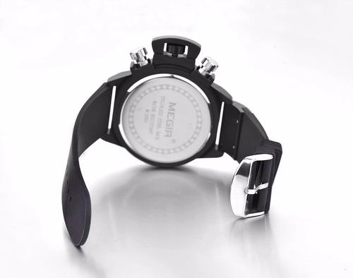 reloj masculino deportivo megir 2002 hombre pulso silicona