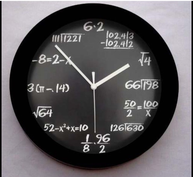 c4ecbb673b72 Reloj Matemáticas Geek Ecuación O Reloj Japones De Kanjis -   335.00 ...