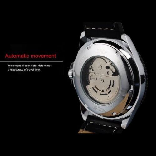 reloj mecánico mecánico automático del deporte del acero ino