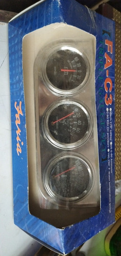 reloj medidor triple mecánico faria