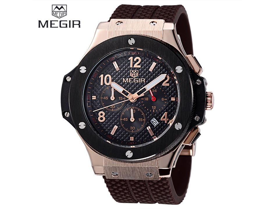 8aee8d92e2d2 reloj megir 3002g casual-militar-deportivo cronografo fecha. Cargando zoom.