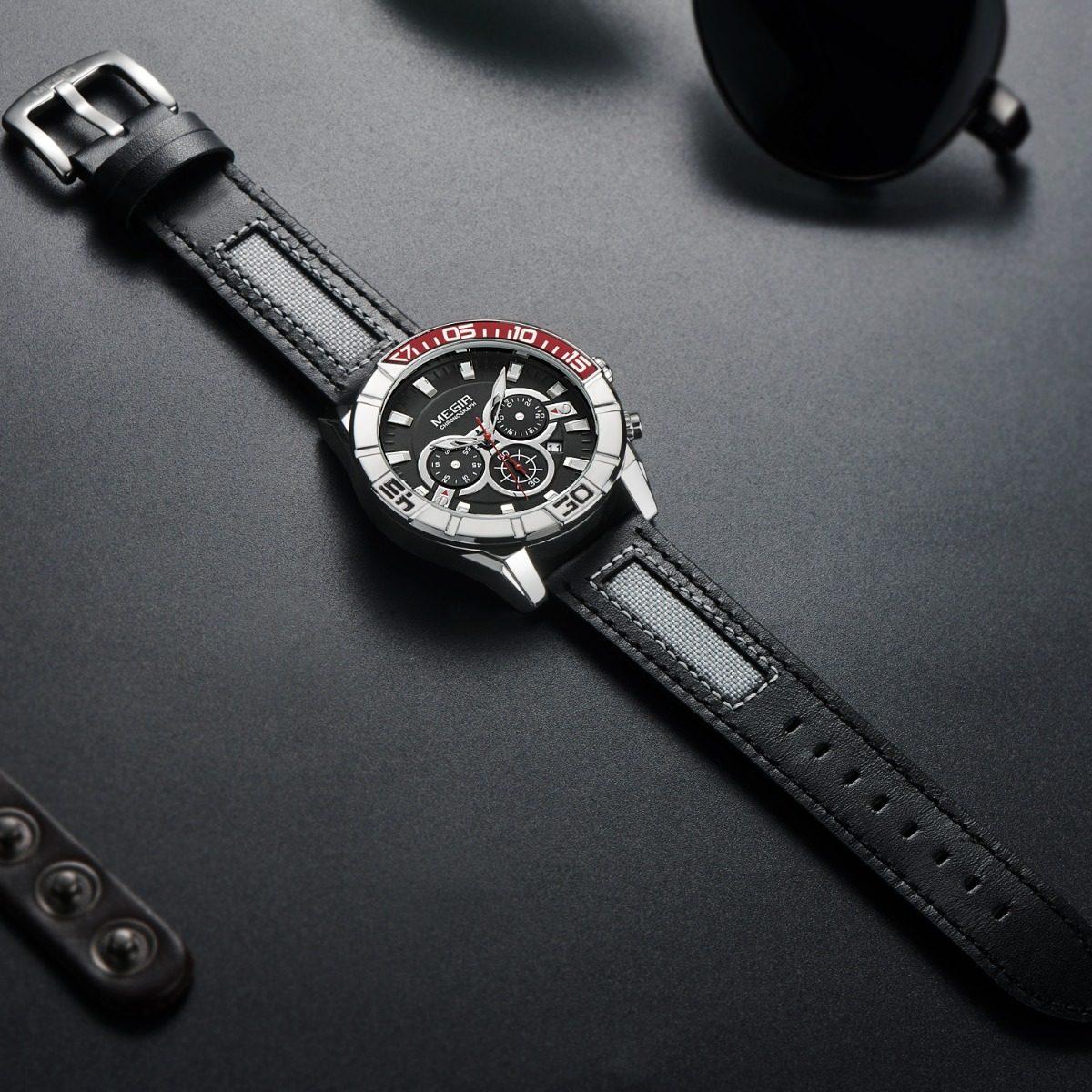 5717fd225f00 Reloj Megir Con Cronografo Para Hombre Original -   890.00 en ...
