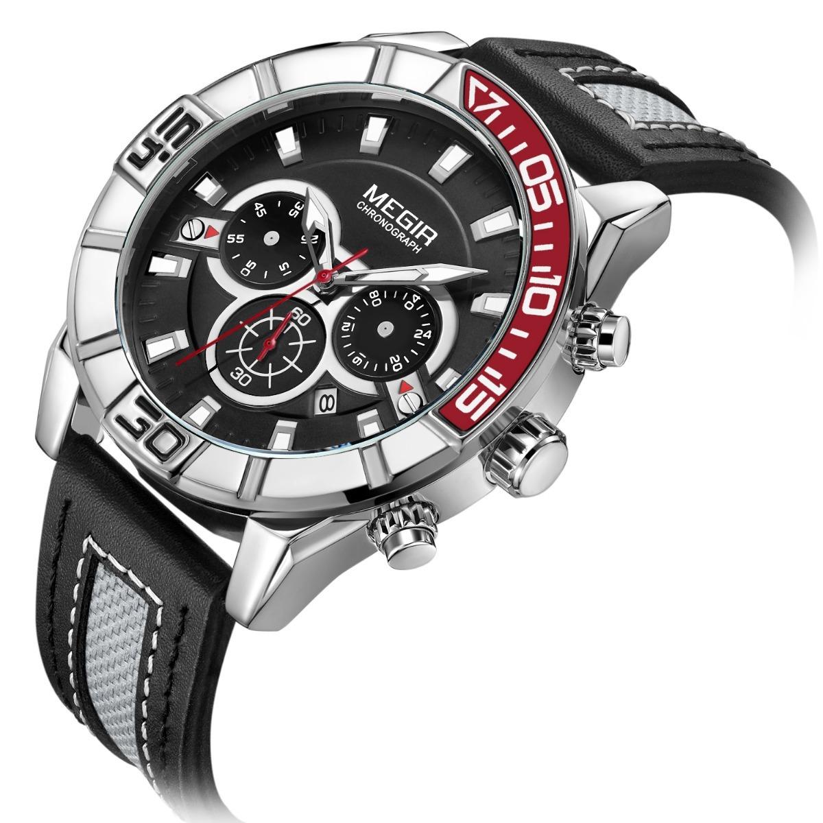 0d7bc54cc120 Reloj Megir Con Cronografo Para Hombre Original -   890.00 en ...