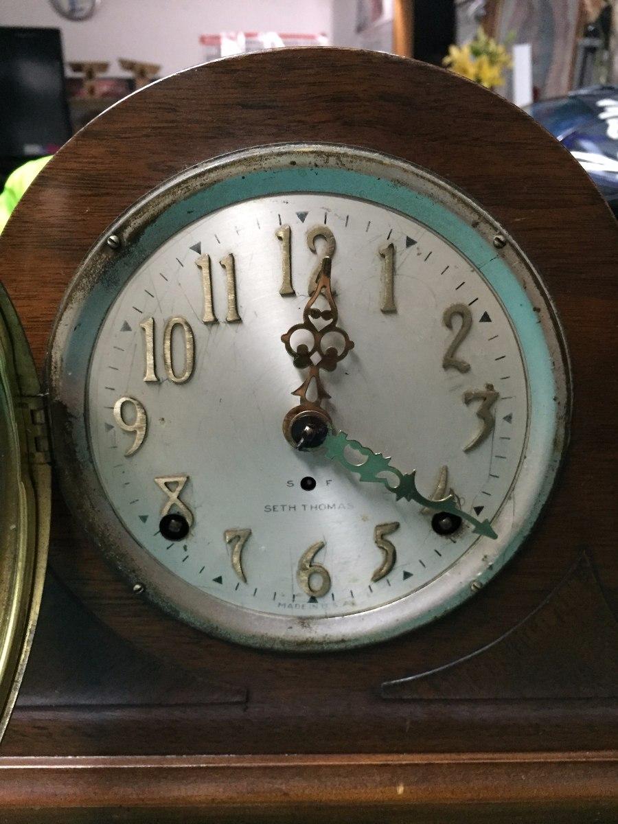 Reloj de mesa o chimenea antiguo dos cuerdas seth thomas for Reloj digital de mesa