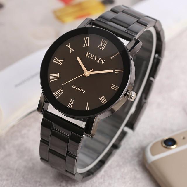 Reloj Metálico Negro Elegante Kevin -   149.00 en Mercado Libre 776354280be1