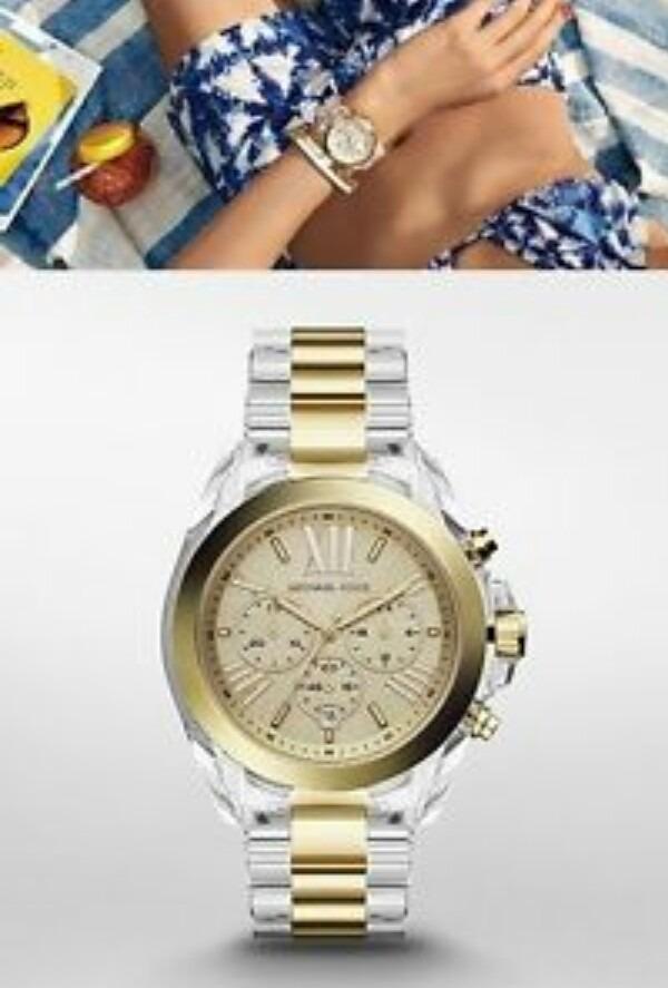 Reloj Transparente Con Dorado Michael Kors ( Mk) - S  720,00 en ... 35984799ee