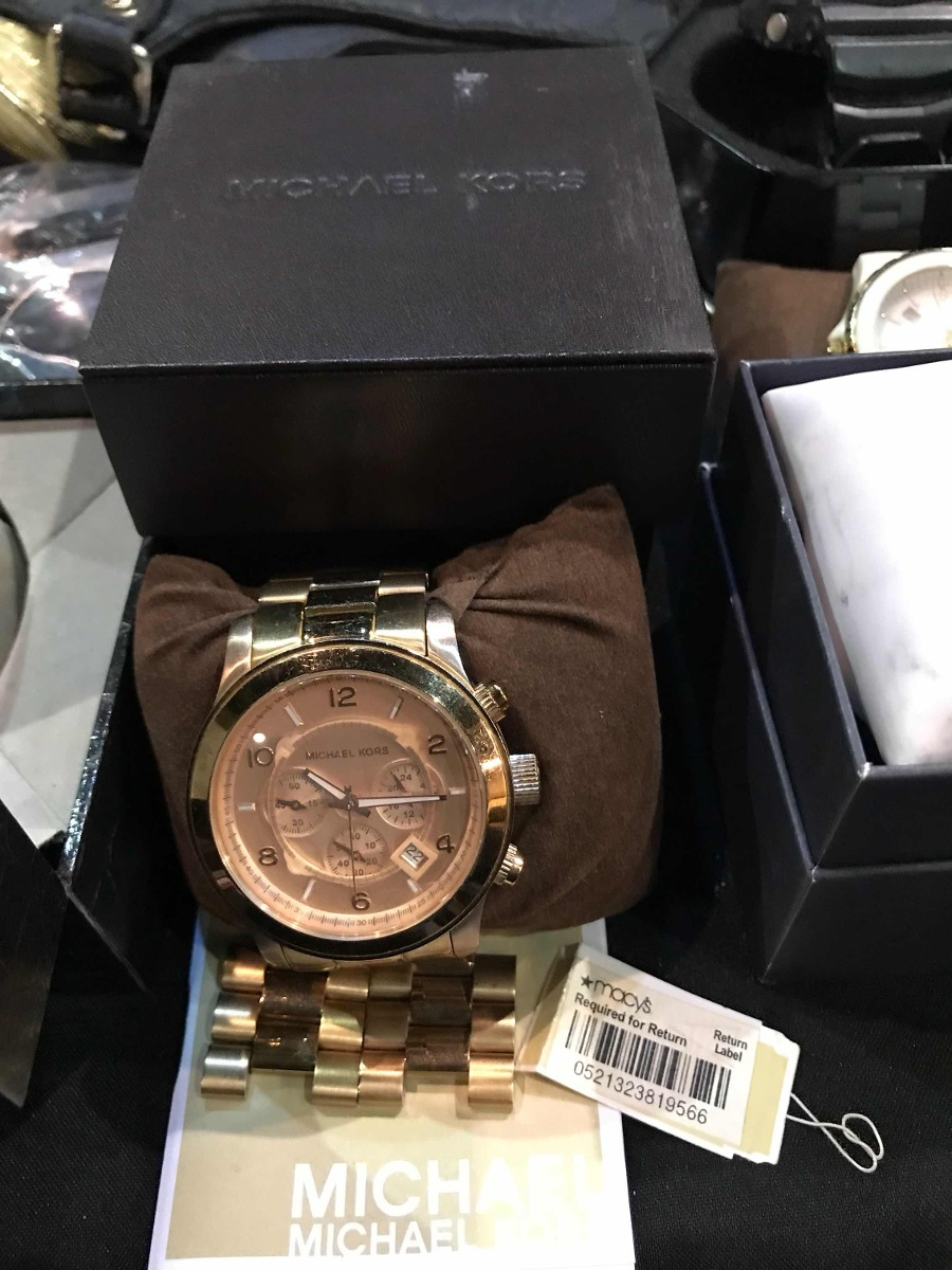 78a569c631fa Reloj Michael Kors Mercer Rosa Modelo  Mk-8096 - Bs. 800