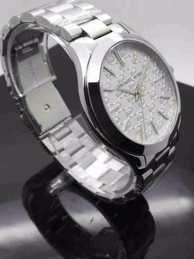 Reloj Michael Kors Silver Mk3371 Slim Runway Env 237 O Gratis