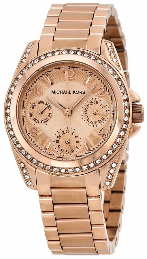 8ebfec4d8701 reloj michael kors blair acero tono oro rosado mujer mk5613. Cargando zoom.