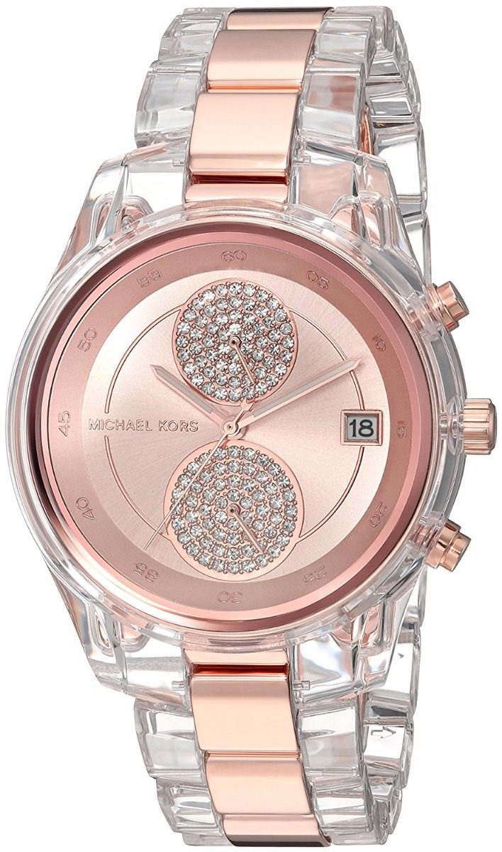 Reloj Michael Kors Briar Rose Gold-clear Mk6499 Envío Gratis ... a6830bca52