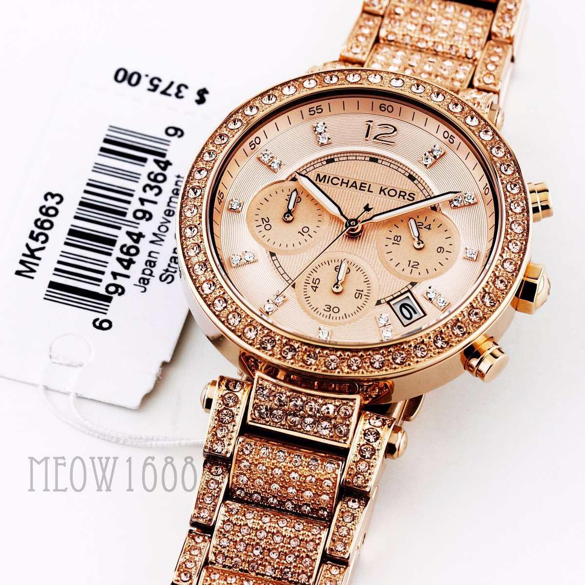 76d85559c028 Reloj Michael Kors Dama Mk5663 Piedras Color Oro-rosa -   849.900 en ...