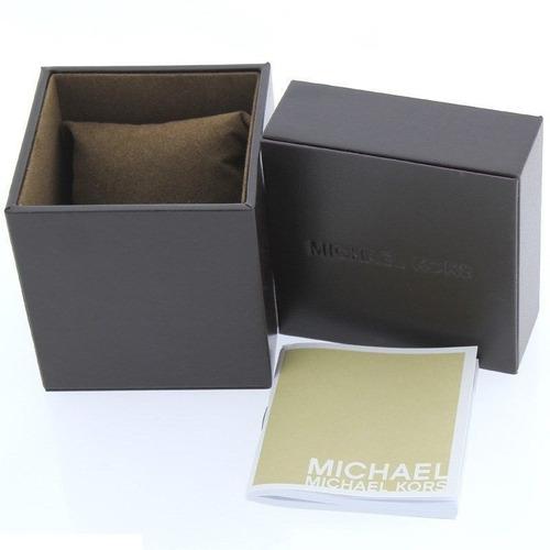 reloj michael kors dylan acero color oro silicón azul mk8295