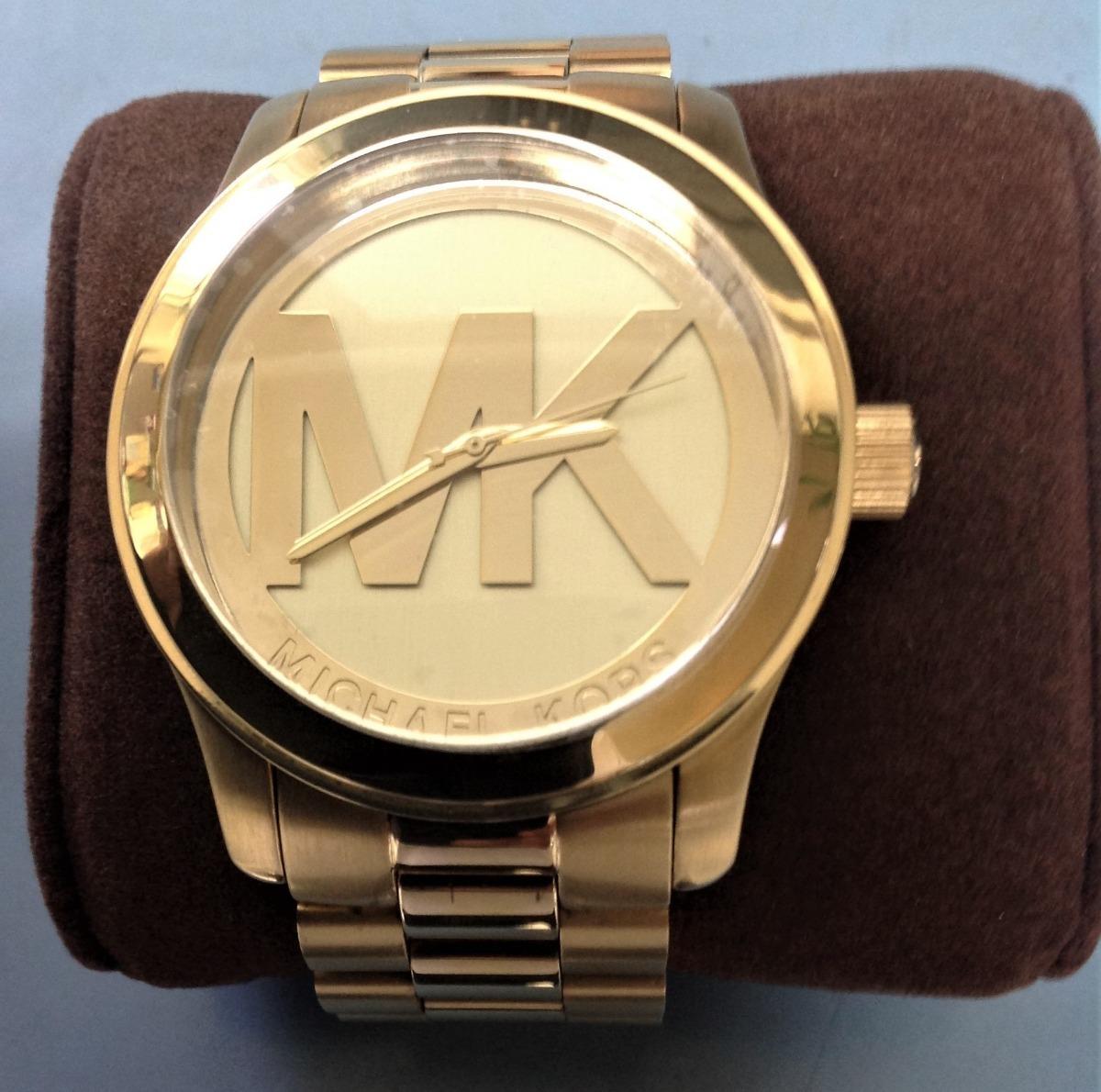 Genuino Michael Seguridad Tono Mk Sello Reloj 5473 Oro Kors hCQorxtsBd
