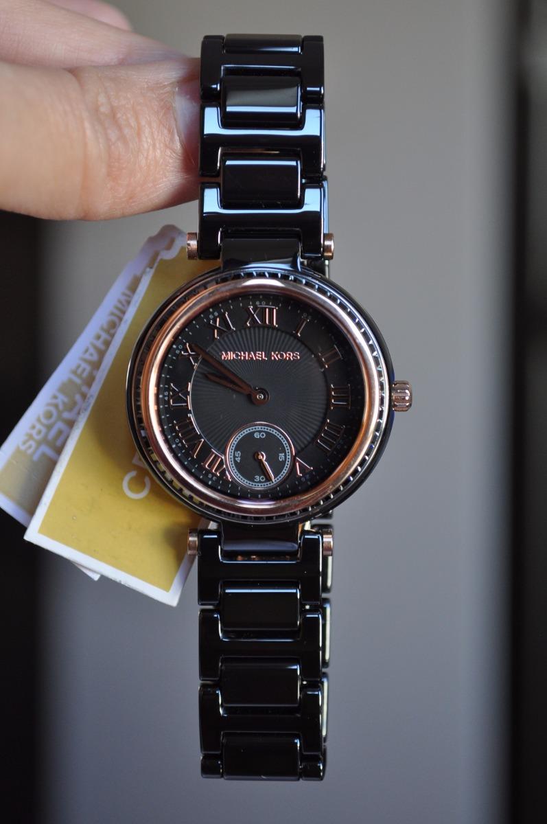 Mk Reloj Ceramica Mk6242 Michael Negra Dama Kors Original pqUSGVzM