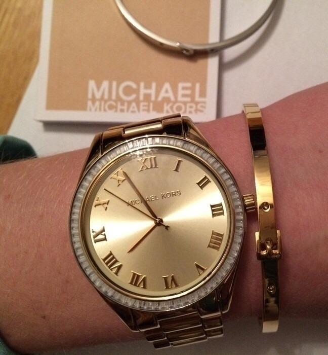 Original Michael Hermoso Kors Mk3244 100Dorado Reloj 34LqRjc5A