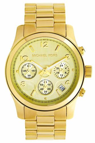 reloj michael kors mk5055 runway 38mm cronógrafo fechero