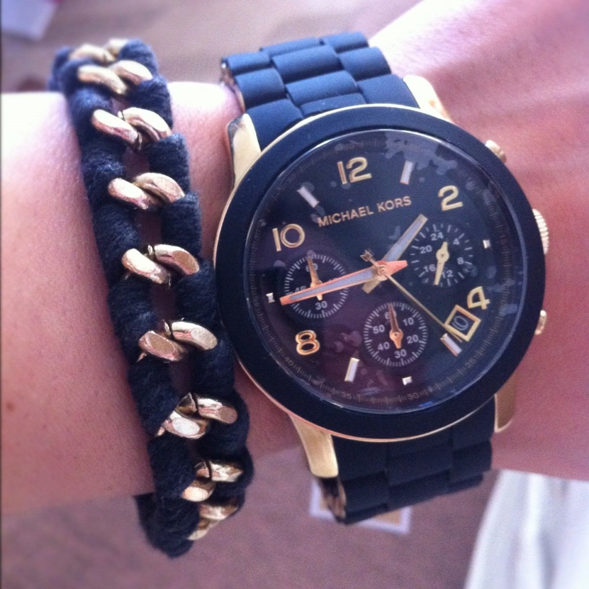 3d5d0c6c2624 reloj michael kors mk5191 negro y dorado nuevo en caja. Cargando zoom.