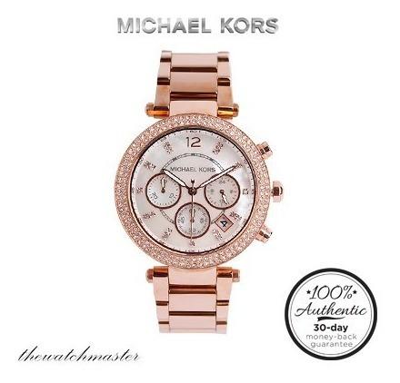 reloj michael kors mk5491 gold rose - 100% original nuevo