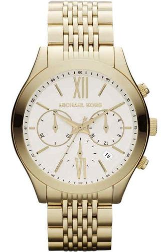 reloj michael kors mk5762 women's brookton golden stainless