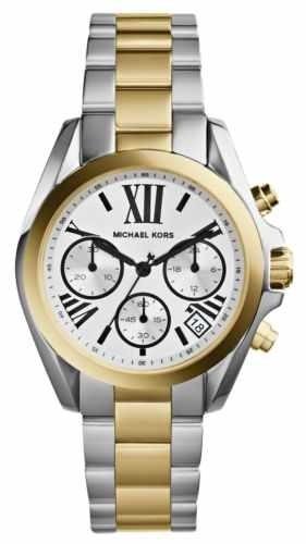 reloj michael kors mk5912 women's bradshaw mini two tone gol