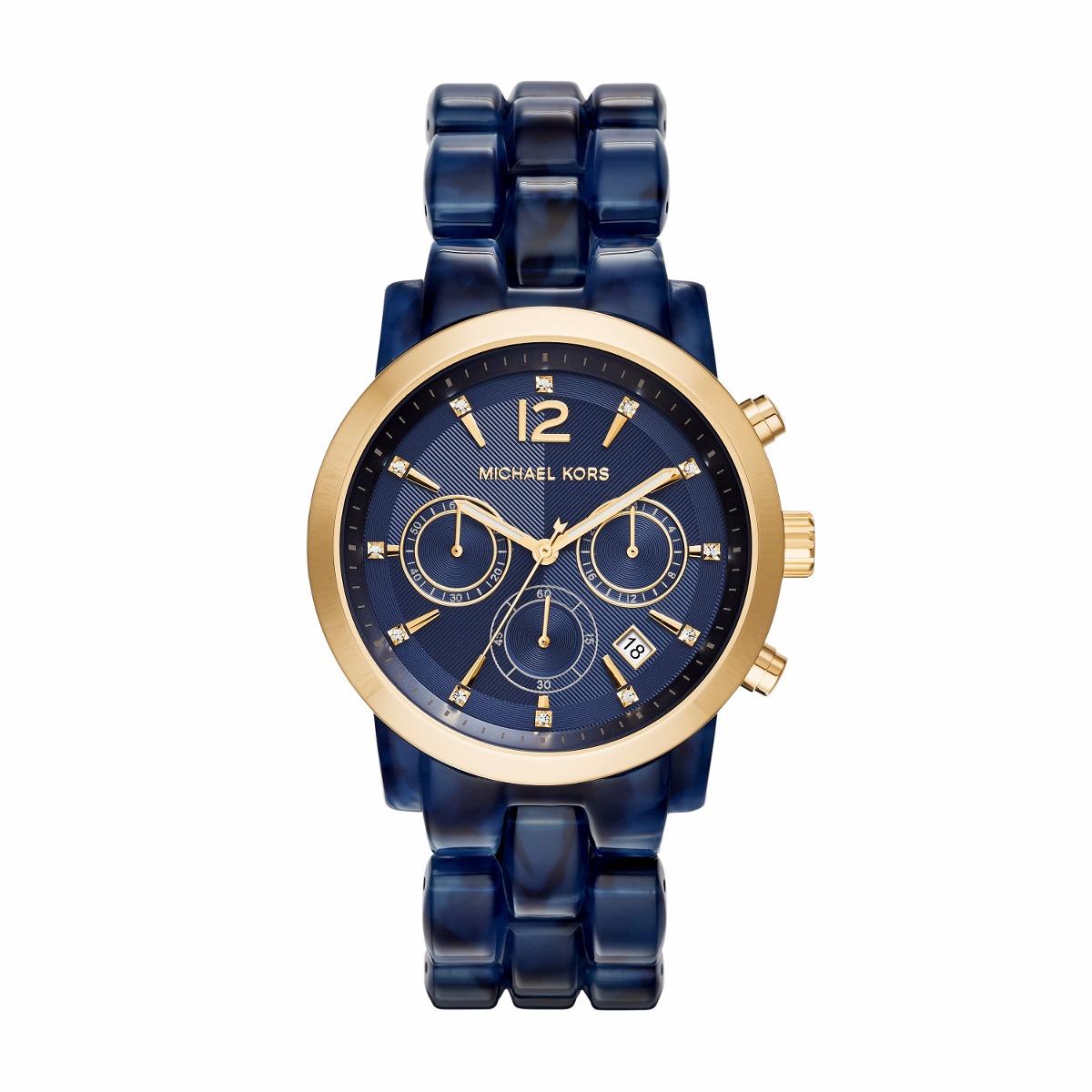 fc4769d4240c reloj michael kors mk6236 mujer cristales azul. Cargando zoom.