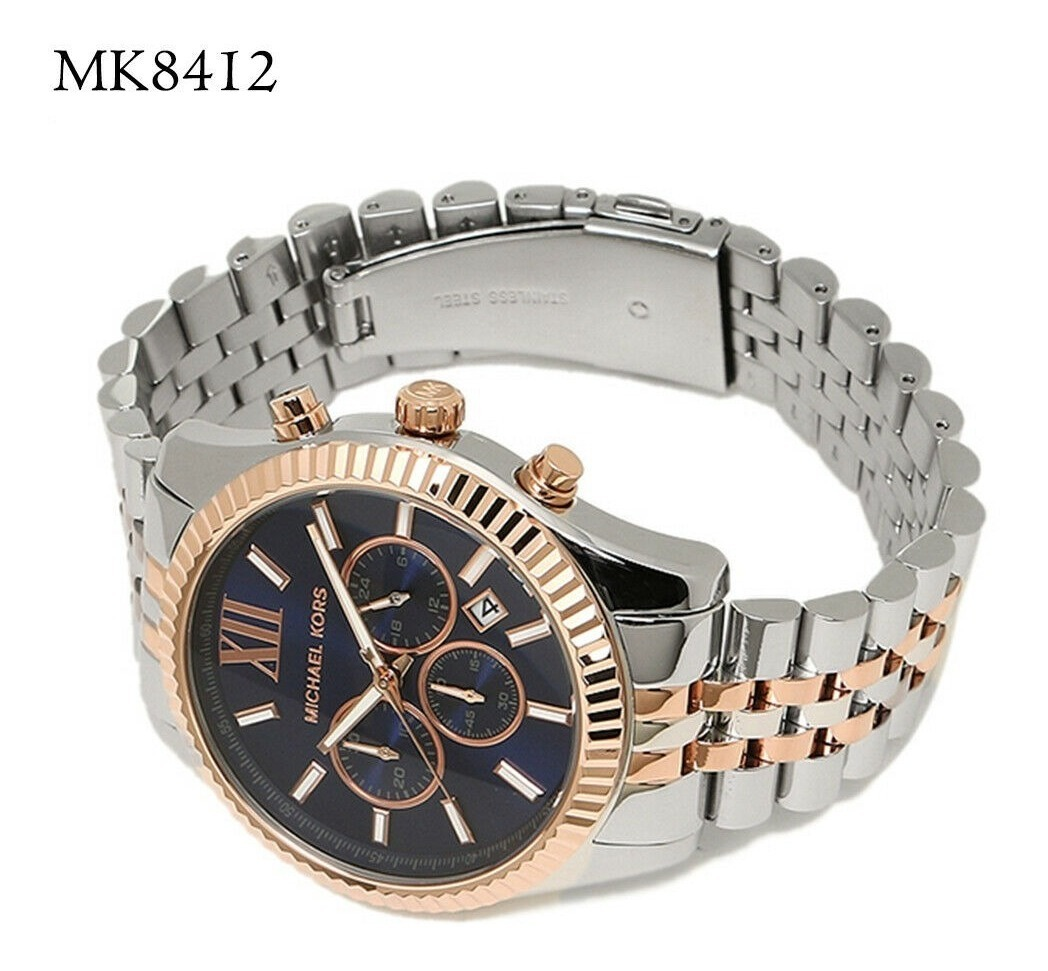 Dial Reloj Mk8412 Michael Chronograph Silver Kors Lexington N0wv8mn