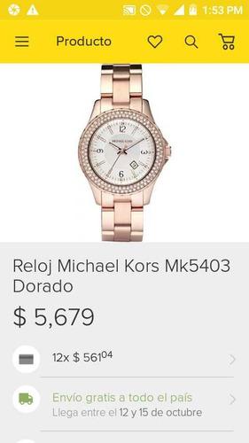 reloj michael kors modelo mk-5403 usado pila nueva