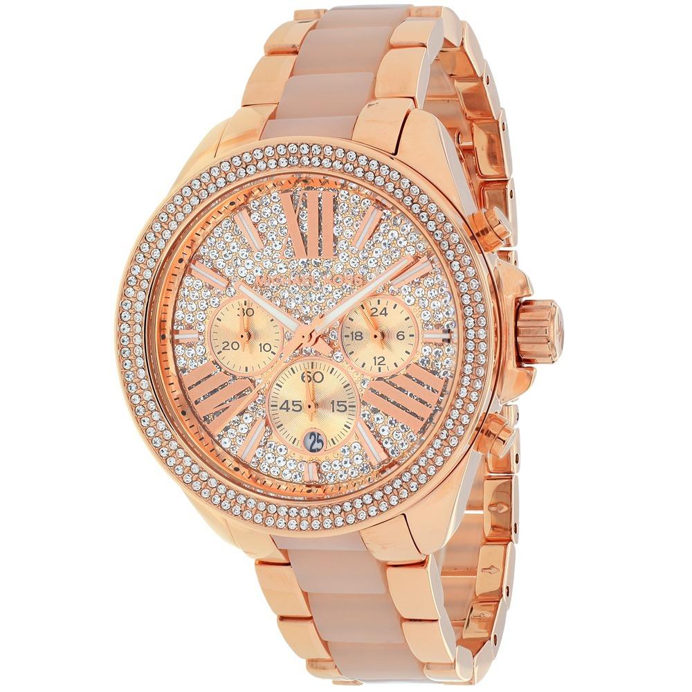 Reloj Michael Kors Para Mujer Mk6096 Tonoo Rosa De Oro -   6 ba9d23146050