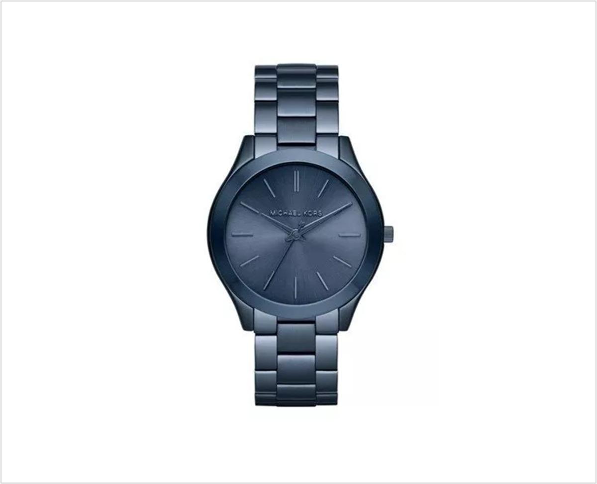 Azul Original Mk3419 Kors Mujer Metal Michael Reloj fI7yYvb6g